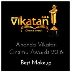 Best Makeup Award at Ananda Vikatan Cinema Awards 2016